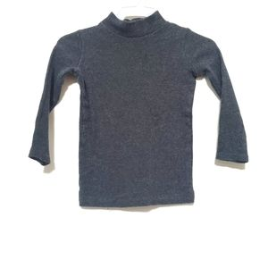 4for$20!! Ribbed turtleneck charcoal gray 2T